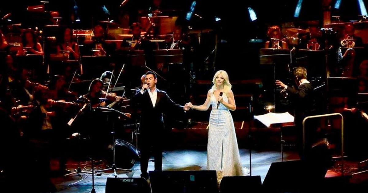 Aliki with Mario Frangoulis
