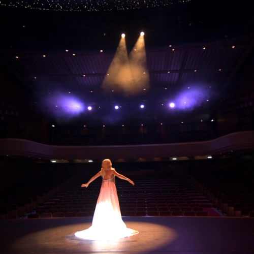 Aliki performing Never Enough at the Theatre
